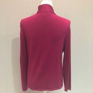 Jones New York Sweaters - Jones New York Pink V-neck Sweater